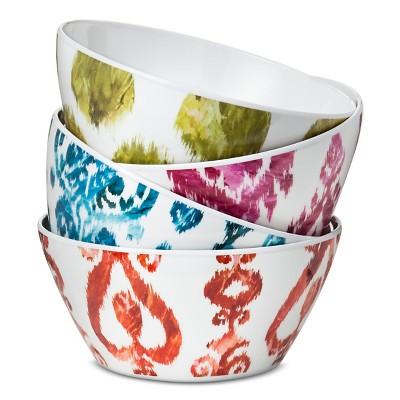 Ranya Damask Melamine Bowls (26oz)- Set of 4