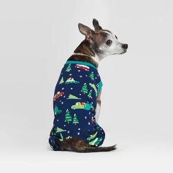Holiday Car Cat & Dog Pajamas - Wondershop™ Blue