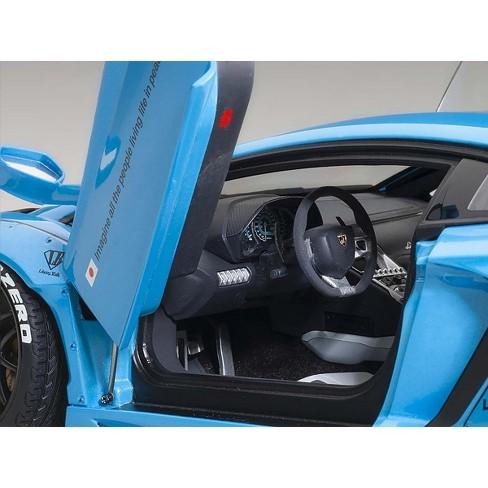 Lamborghini Aventador Lb Works Metallic Sky Blue With Black Wheels 1