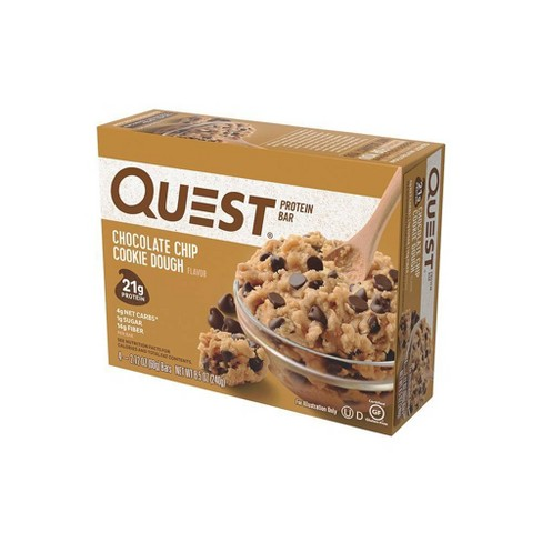 Quest Protein Bar - Chocolate Chip Cookie Dough - 4ct - image 1 of 4