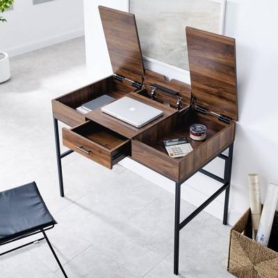 """42"""" Lift Top Storage Desk With Tablet Holder - Saracina Home : Target"""