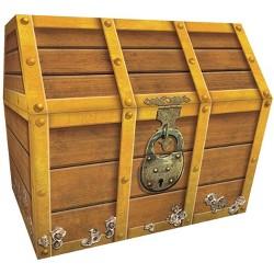 Teacher Created Resources Treasure Chest, 9-1/2 x 8 x 8-1/2 Inches, Cardboard