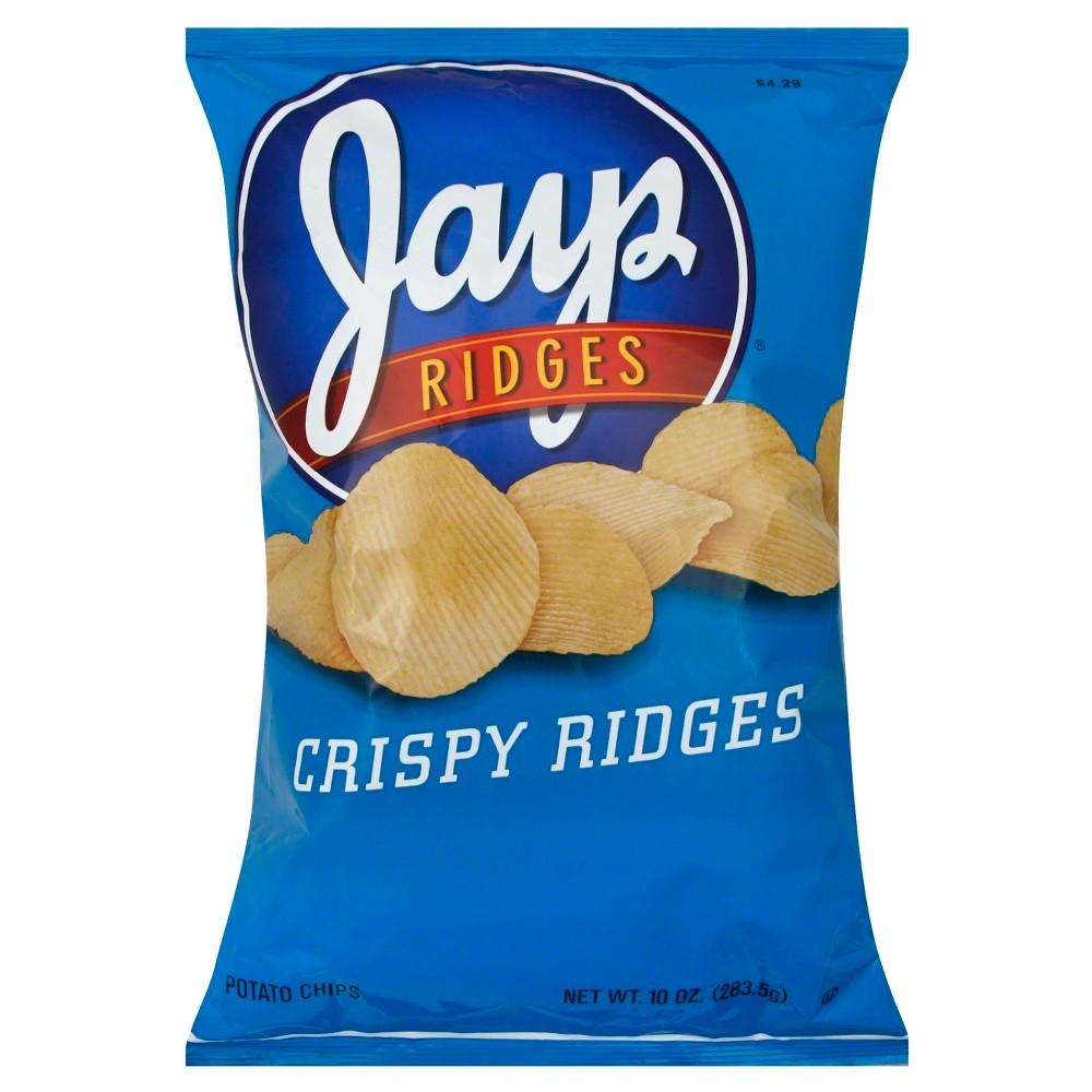 Jays Crispy Ridges Potato Chips - 10 oz
