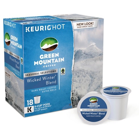Green Mountain® Wicker Winter Blend Dark Roast Extra Bold Coffee - Keurig K-Cup Pods - 18ct - image 1 of 1