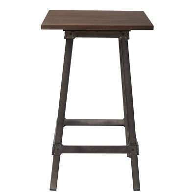 Indio Steel Bar height Table Top Walnut - OSP Home Furnishings
