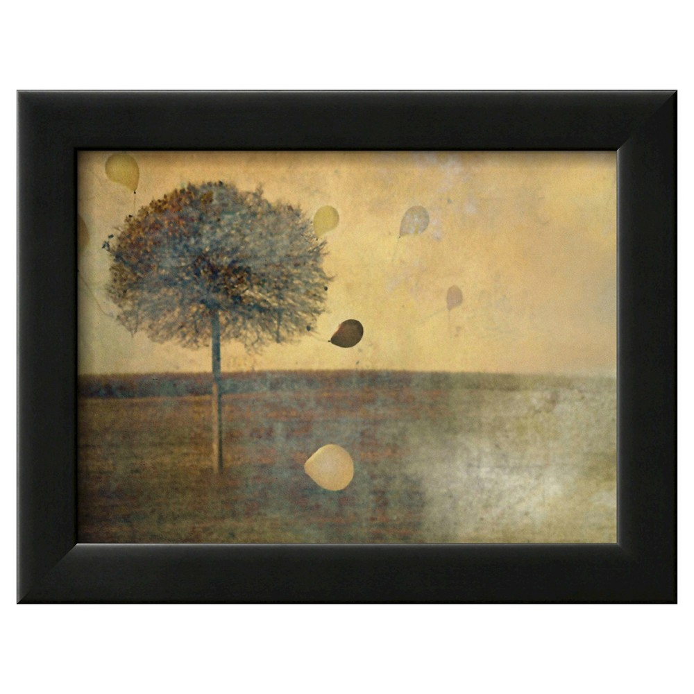 Art.com Balloons Tied to Tree Framed Poster Print, Brown