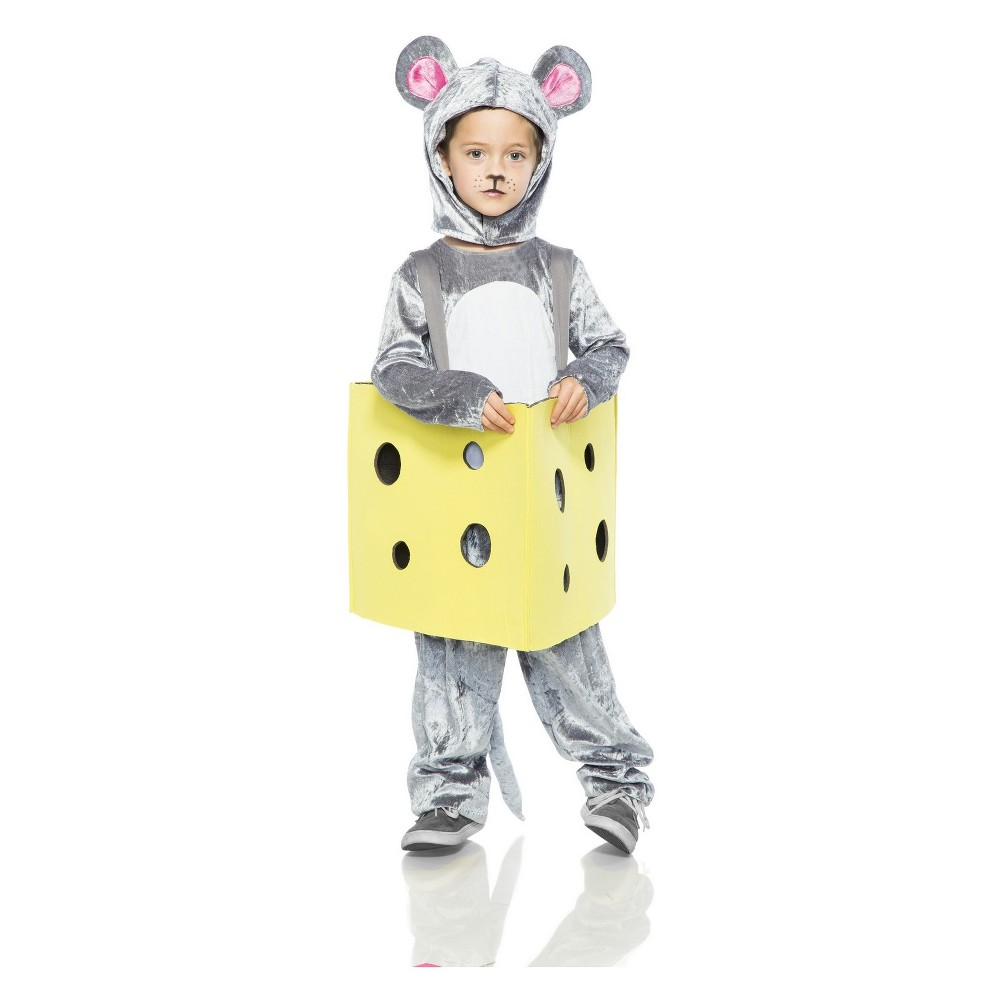 Toddler Girls' Mouse in Cheese Halloween Costume 3T, Multi-Colored