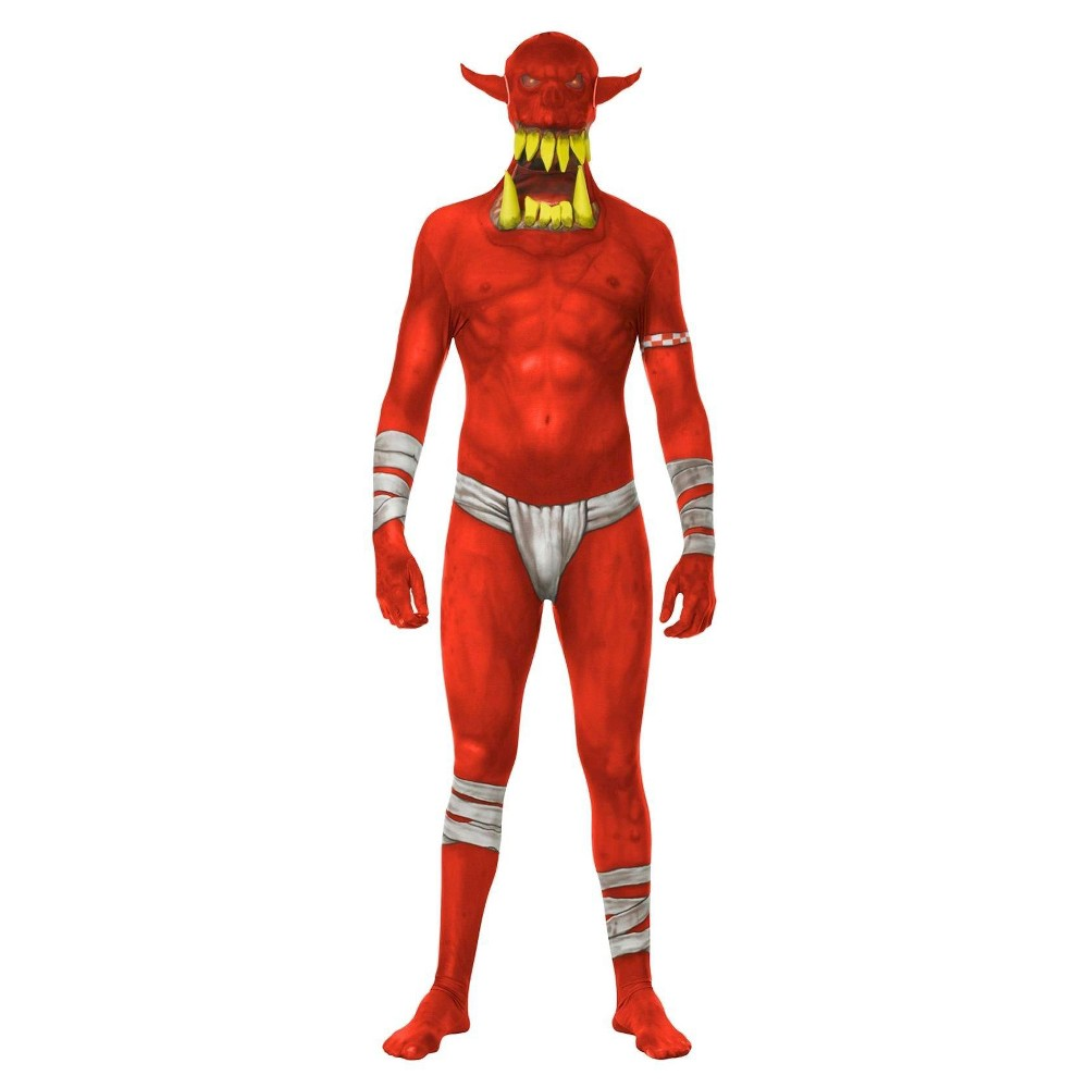 Image of Halloween Men's Demon Costume - M, Size: Small, Red
