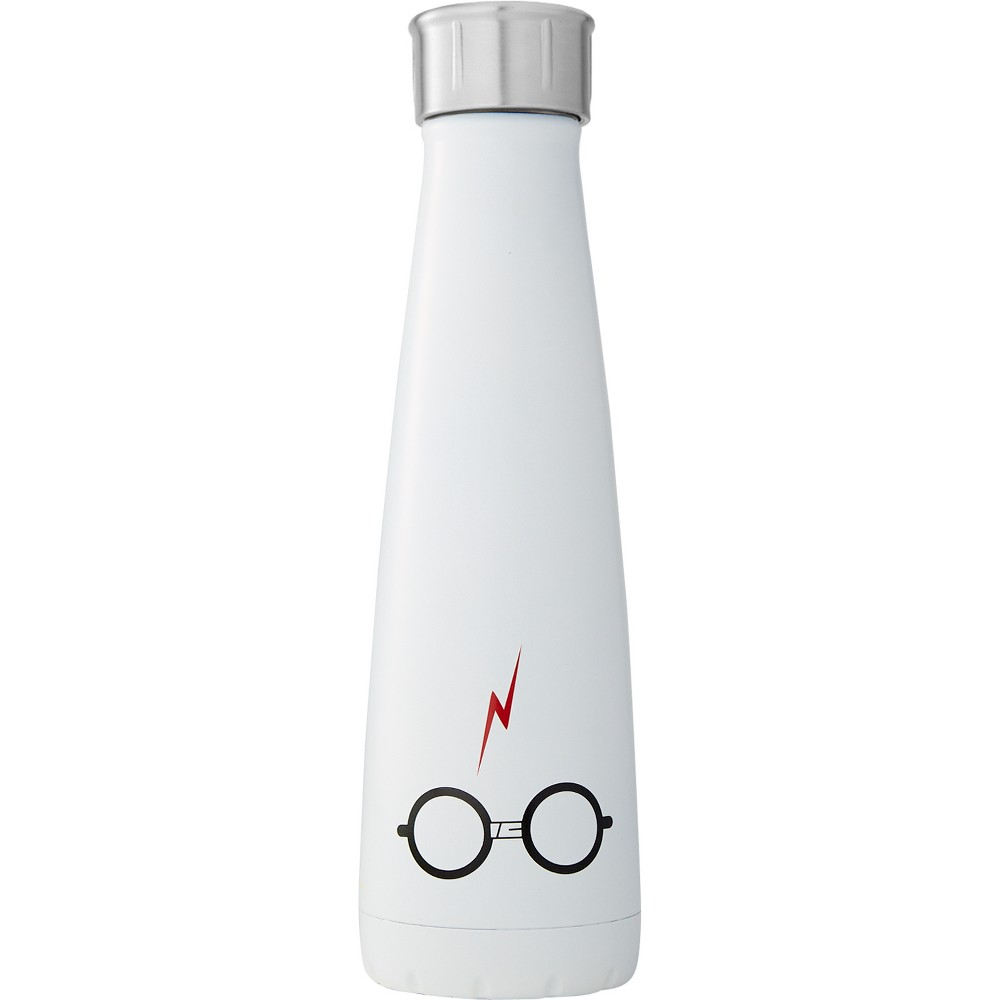 Image of Harry Potter S'ip by S'well 15oz Stainless Steel The Boy Who Lived Water Bottle White