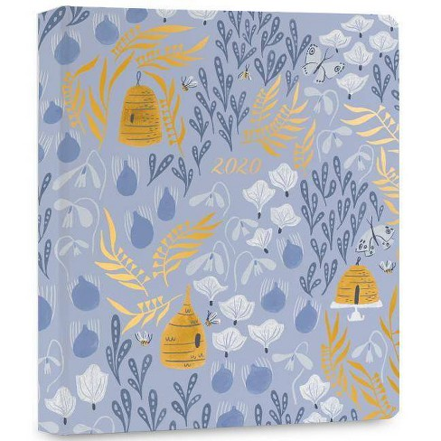 2020 High Note Garden Honeybee Floral in Gold 18-Month Weekly Hardcover Planner - (Calendar) - image 1 of 1