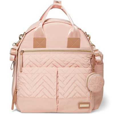 Skip Hop Suite 6pc Diaper Bag Backpack Set - Blush