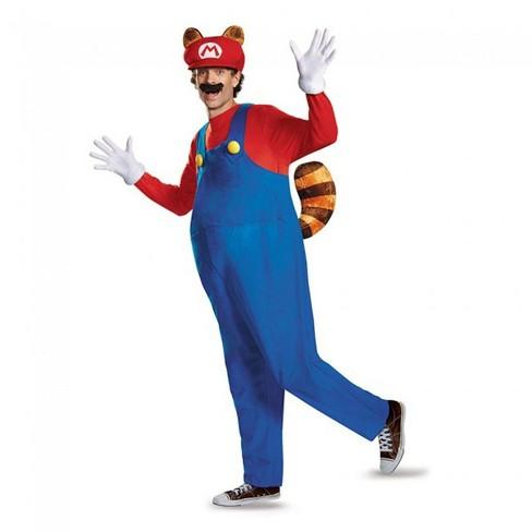 Disguise Super Mario Bros Nintendo Mario Raccoon Deluxe Costume Adult - image 1 of 1