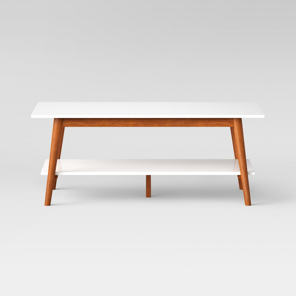 Amherst Mid Century Modern Two-Tone Coffee Table -White/Brown - Project 62