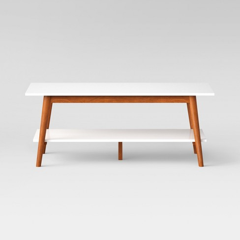 Amherst Mid Century Modern Two-Tone Coffee Table -White/Brown - Project 62™ - image 1 of 5