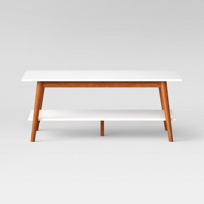 Amherst Mid Century Modern Two Tone Coffee Table  White/Brown   Project 62™  : Target