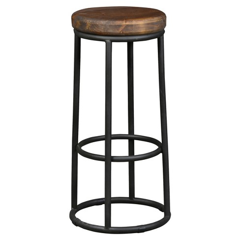 "Backless 30"" Barstool Iron/Brown - image 1 of 1"