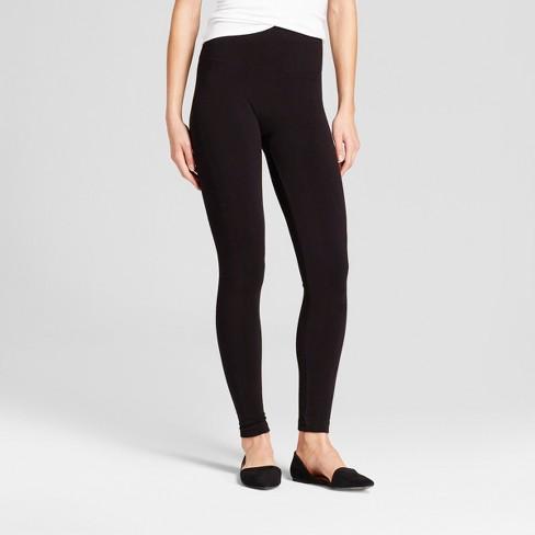 e0f5b3aea4746c Women's Seamless Fleece Lined Leggings - A New Day™ Black : Target