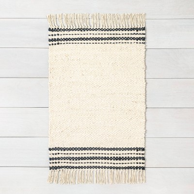3' x 5' Charcoal Stripe Jute Rug - Hearth & Hand™ with Magnolia
