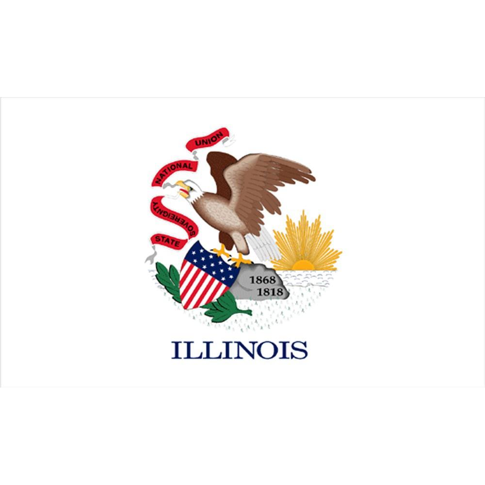 Image of Halloween Illinois State Flag - 3' x 5'
