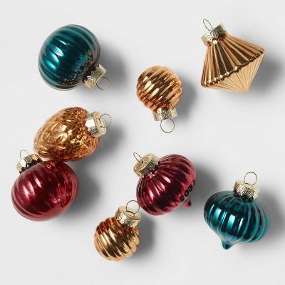 8ct Vase Filler Glass Christmas Ornament Set - Wondershop™