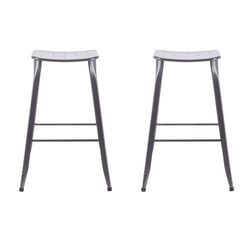 "Set of 2 29"" Lennon Saddle Backless Barstools - ACEssentials - image 1 of 3"