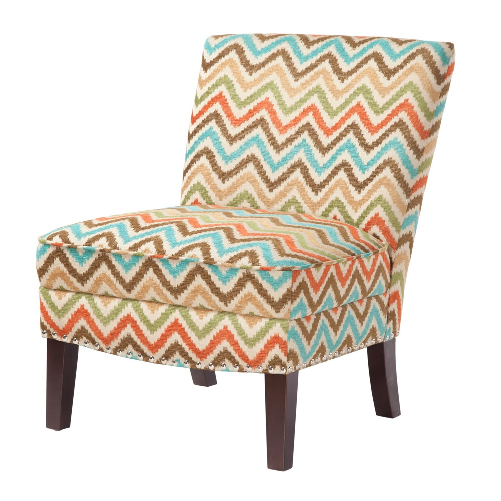 Karly Slipper Accent Chair Orange