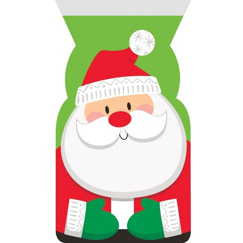 12ct Santa Favor Bags Red and Green - image 1 of 1