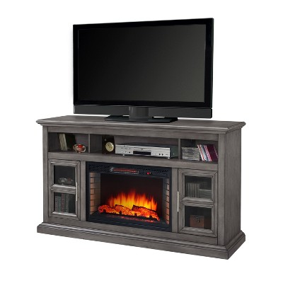 "Glendale 58"" Media Electric Fireplace Dark Gray - Muskoka"