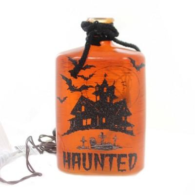 "Stony Creek 8.0"" Halloween Lighted Glass Botle Haunted Spider  -  Novelty Sculpture Lights"
