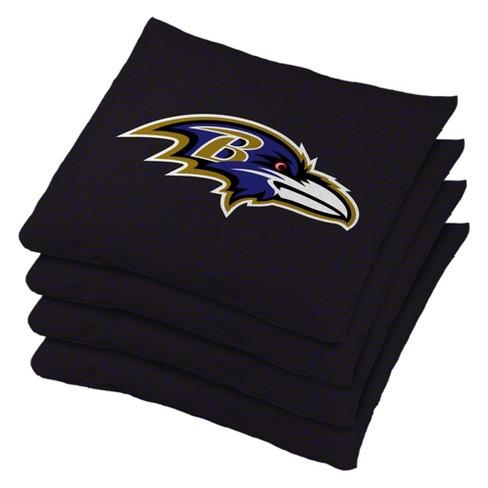 NFL Baltimore Ravens 4pk Bean Bag Set - Black - image 1 of 1