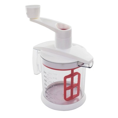 Tovolo Quick Mix Batter Blender Candy Apple Red, White