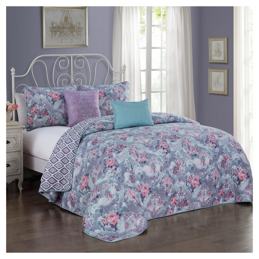 Purple Bianca Quilt Set (King) 5pc