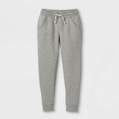 Girls' Fleece Jogger Pants - Cat & Jack™ Heather Gray