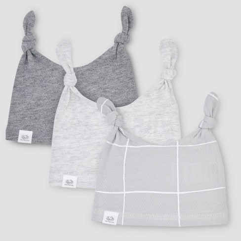 Fruit of the Loom Baby 3pk Breathable Beanies - Gray - image 1 of 4