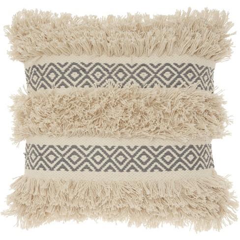 Mina Victory Life Styles Diamond Stripe Texture Throw Pillow - image 1 of 4