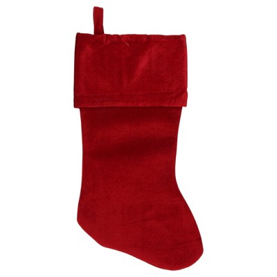 """Northlight 18"""" Solid Red Traditional Hanging Christmas Stocking"""
