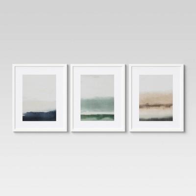 "(Set of 3)16"" x 20"" Horizon Framed Wall Art - Project 62™"