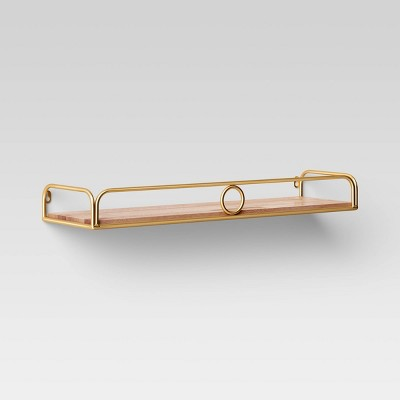 24  x 7  Decorative Wall Shelf Gold - Opalhouse™