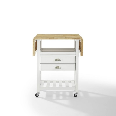 Bristol Double Drop Leaf Kitchen Cart White - Crosley
