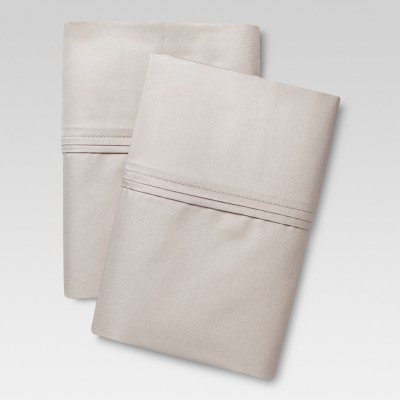Performance Solid Pillowcase Set (Standard)Gray 400 Thread Count - Threshold™