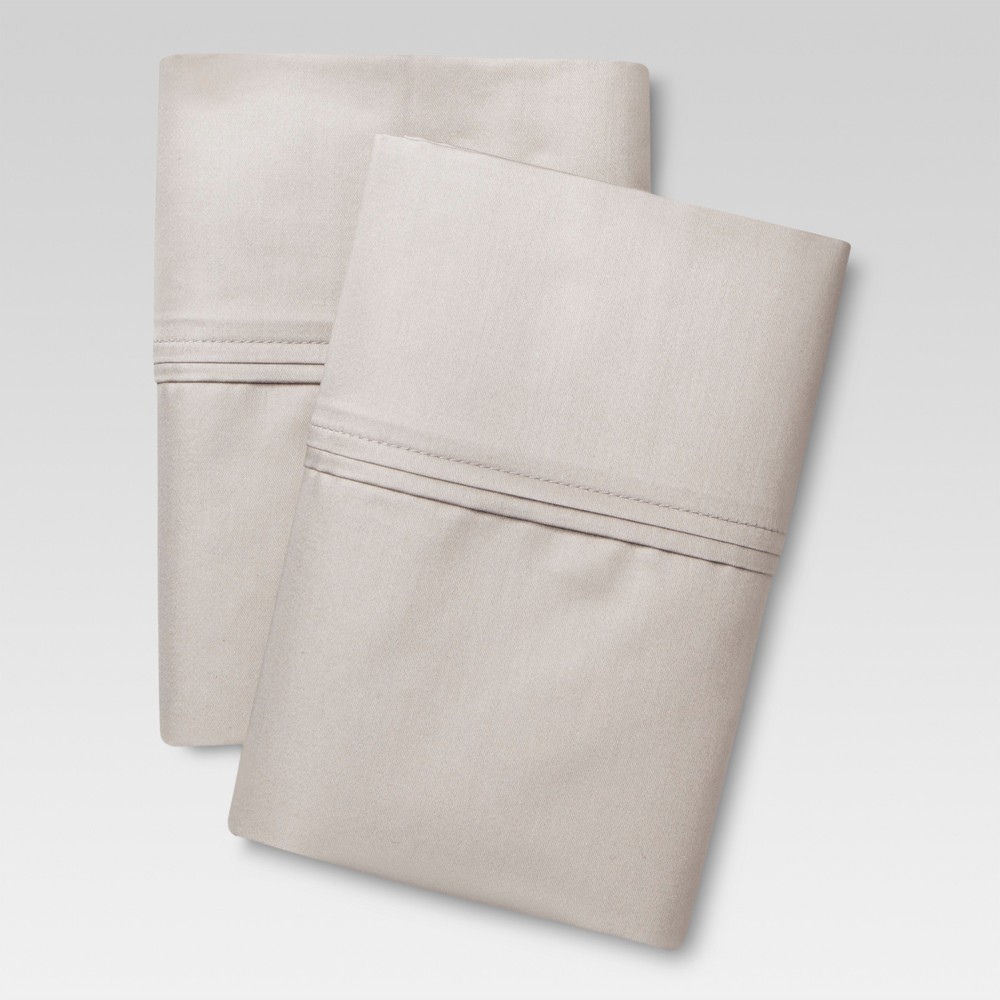 Performance Solid Pillowcase Set (King) Gray 400 Thread Count - Threshold