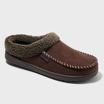 Men's Dearfoams Slide Slippers - Brown
