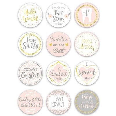 The Peanutshell Baby's Firsts Milestone Stickers