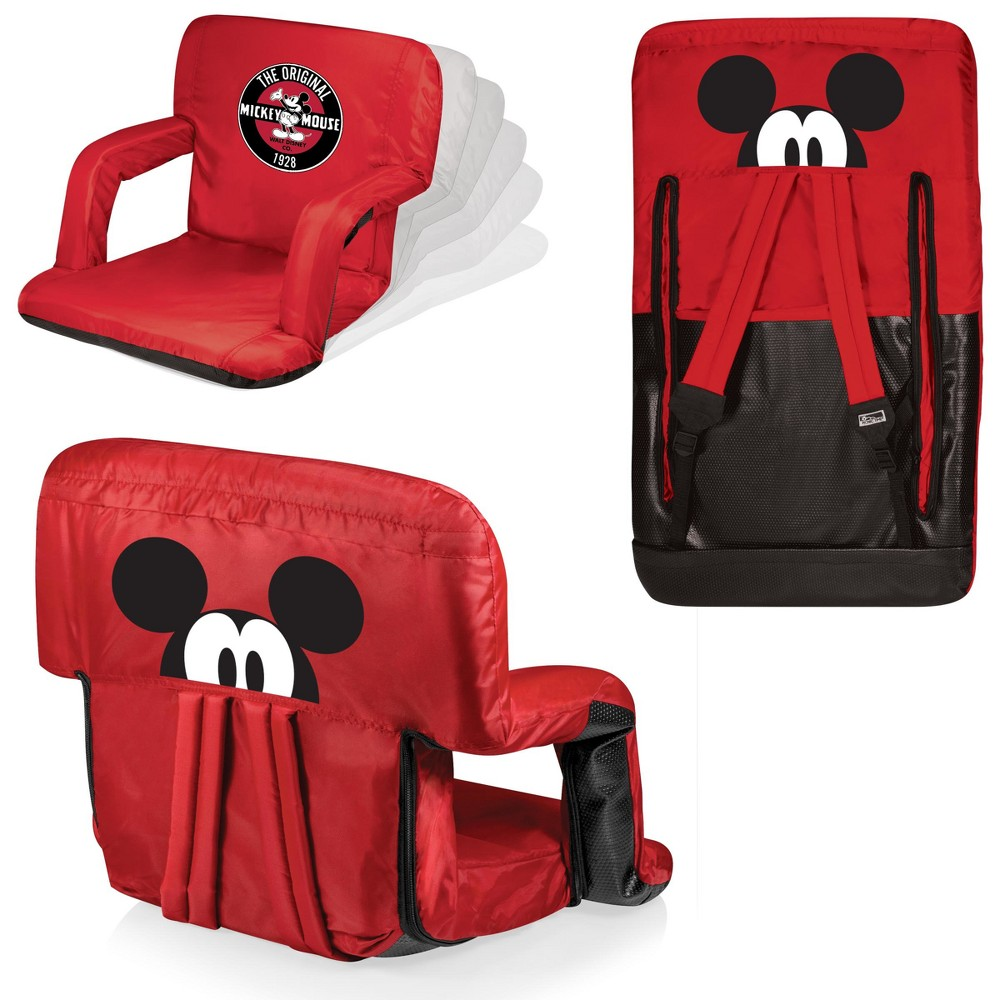 Picnic Time Disney Mickey Mouse Ventura Portable Reclining Stadium Seat - Red