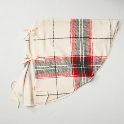 Holiday Plaid Cotton Tree Skit Red/Green - Hearth & Hand™ with Magnolia