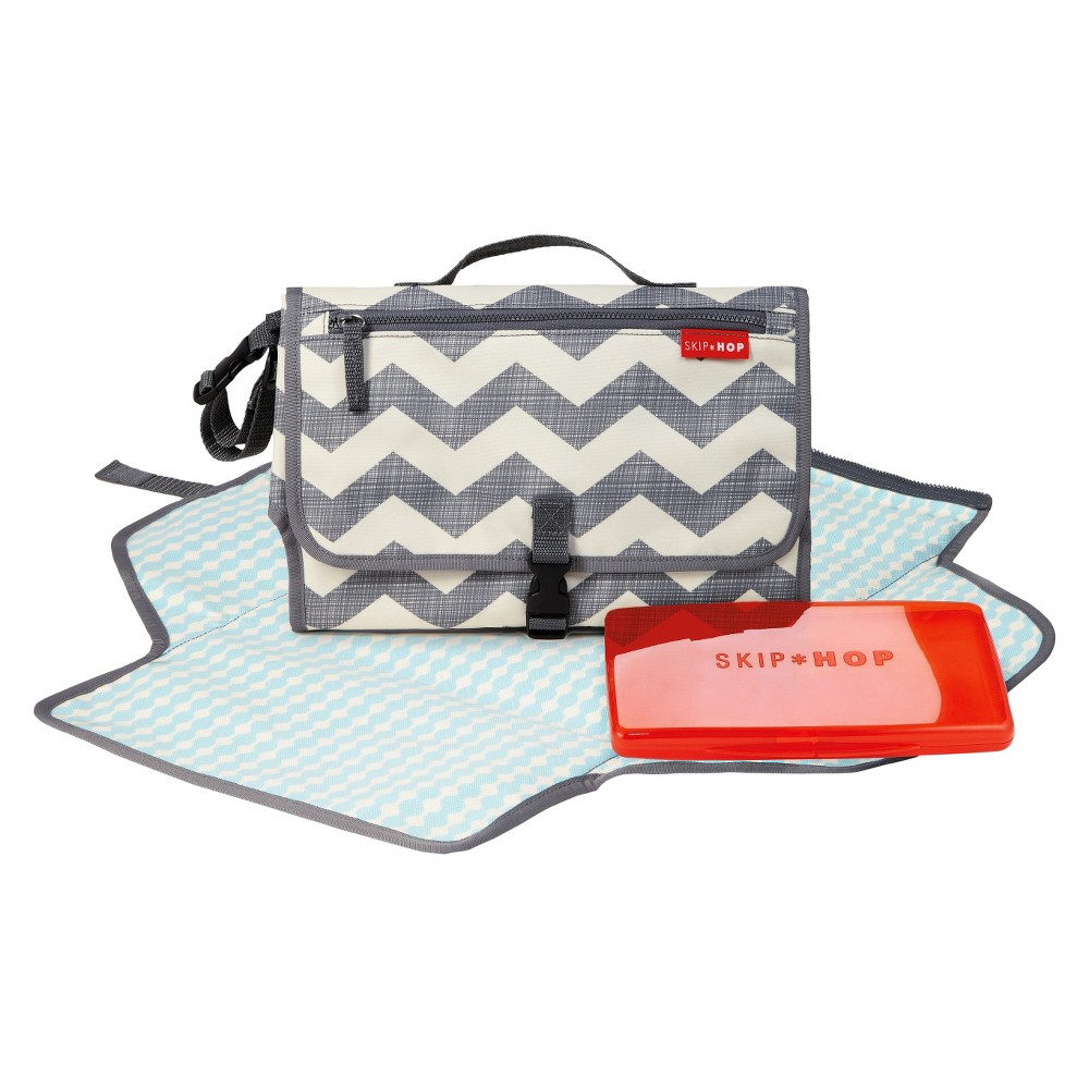 Image of Skip Hop Pronto Baby Changing Station & Diaper Clutch Chevron