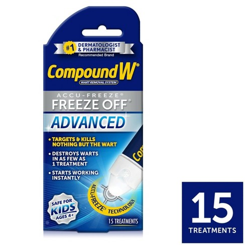 Compound W Freeze Off Advanced Wart Remover with Accu-Freeze - 15 Applications - image 1 of 3