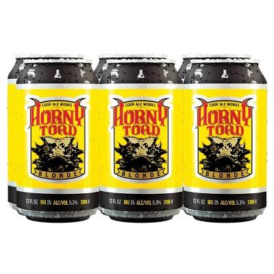 COOP Ale Works Toad Blonde Ale Beer - 6pk/12 fl oz Cans