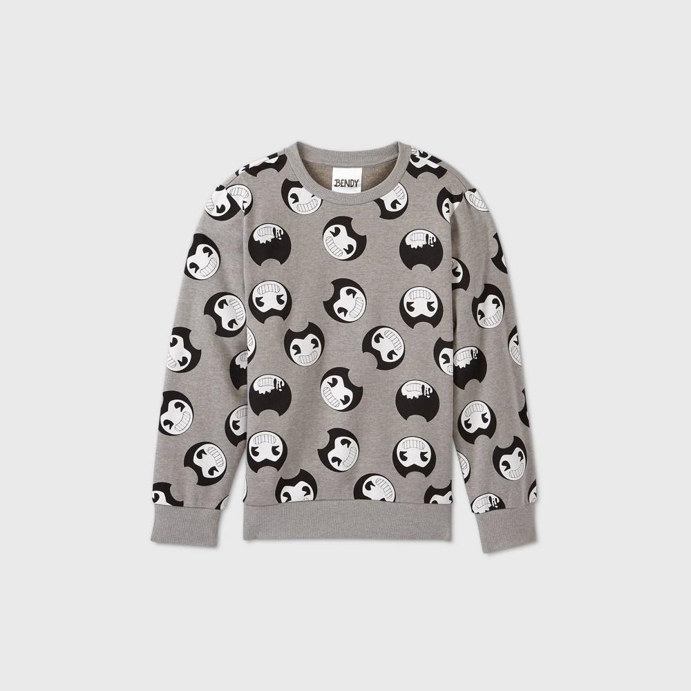 Boys 39 Bendy And The Ink Machine Fleece Sweatshirt Gray M