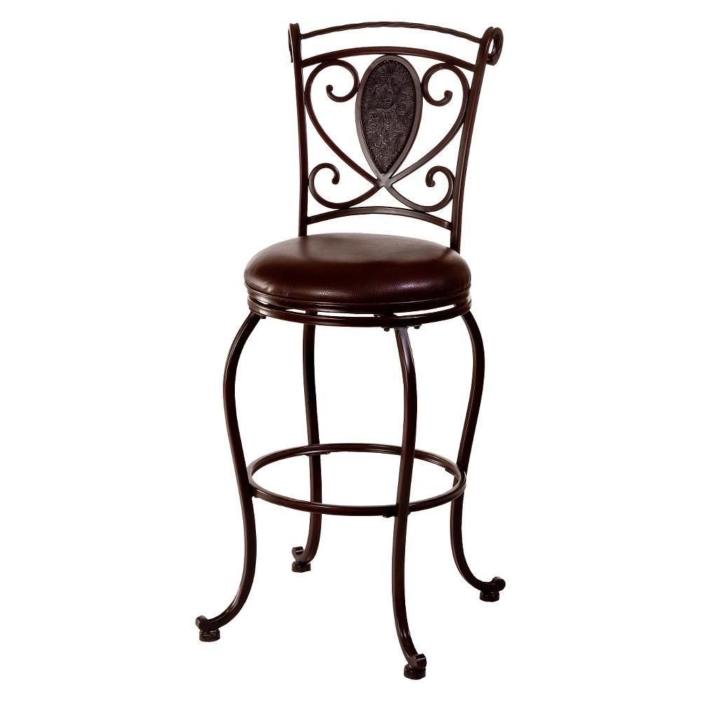 Scarton Swivel 30 Barstool Metal/Brown - Hillsdale Furniture